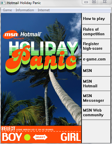 Hotmail Holiday Panic